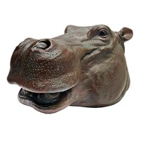 SheilaShrubs.com: Huey, The Hippo Garden Sculpture JE112133 by Design Toscano: Garden Sculptures & Statues