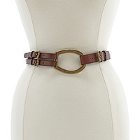 Lauren Ralph Lauren Tri-Strap Leather Belt - Tan