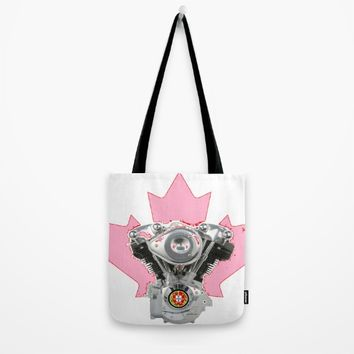 Portuguese Canadian Biker Hot Pink Culture. Tote Bag by Tony Silveira
