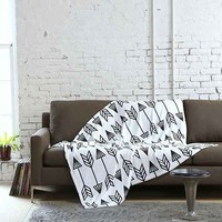 Holli Zollinger For DENY Arrow Throw Blanket- Black & White One