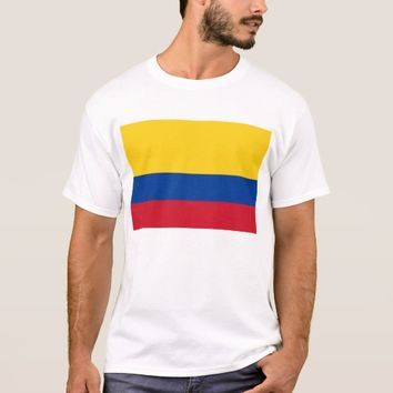 T Shirt with Flag of Colombia