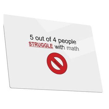 5 out of 4 People Funny Math Humor Metal Panel Wall Art Landscape - Choose Size by TooLoud