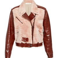 Leather and Shearling Moto Jacket | Moda Operandi