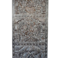 Antique Hand Carved Kamasutra Love Desire Vintage Decorative Panel Bedroom Decor, Wall Hanging, Wall Decor