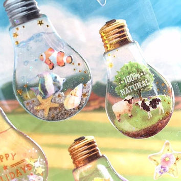 light bulb craft sticker mini light bulb glass craft mini plant light bulb epoxy cute light bulb cool gift mini crystal ball cute sticker