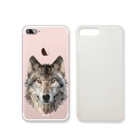 Wolf Clear Transparent Plastic Phone Case for iphone 7_ SUPERTRAMPshop (VAS395.7sl)