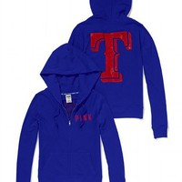 Texas Rangers Bling Perfect Full Zip Hoodie