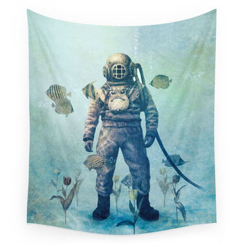Society6 Deep Sea Garden Wall Tapestry