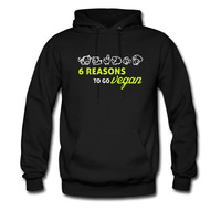 6 reasons to go vegan hoodie sweatshirt tshirt