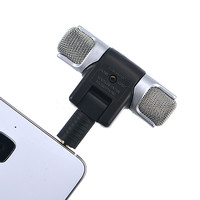 Mini Electronic Microphone Stereo Voice MIC 3.5mm for PC for Universal Computer Laptop phone