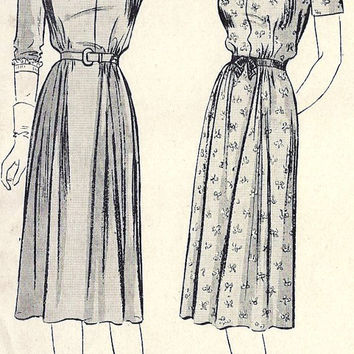"1940s Misses Maternity Dress Vintage Sewing Pattern, Butterick 2006  Bust 32"" uncut"