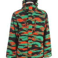 Volcom Fatigue 4 Way Stretch Snowboard Jacket Green 2014 - Mens