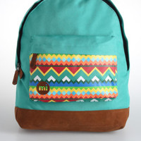 Geo Bermuda Blue Textile Backpack
