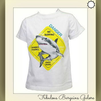Boys Shark Tshirt