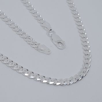 2-2803-G10 C100 Sterling Silver Italian Cuban Link, 4mm Wide, available in chain and bracelet.