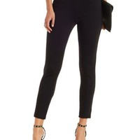 Black Seamed High-Waisted Skinny Pants by Charlotte Russe