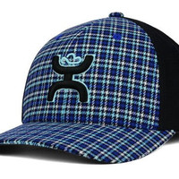 Hooey Men's Hooey Holmes Plaid Flex Fit Cap Black S/M