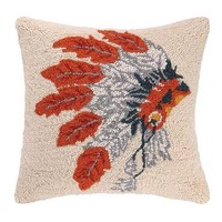 Native American Headdress Pillow