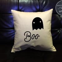 Halloween pillow cover, Ghost Pillow cover , Halloween Decor, Halloween Throw Pillow cover, pumpkin pillow cover cotton canvas pillow cover