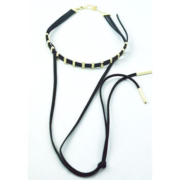 Toni Velvet Strings Choker Necklace