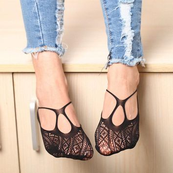 Fashion New Sock Slippers for Sexy Women Cross Lace No Show Peds Sock Slippers Antiskid Invisible Liner Low Cut Socks HOT