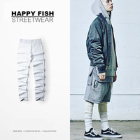 PROVERGOD New High Street  Mens Cotton Solid Leggings Hip Hop Dance Pants Causal Trousers M-XL