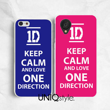 Keep Calm series - 1D - plastic phone case back cover for iPhone 4 4s 5 5s 5c, LG Nexus 4 Nexus 5 - keep calm and love one direction