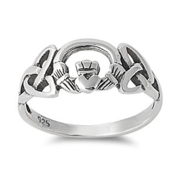 925 Sterling Silver Pagan Claddagh Fusion Ring