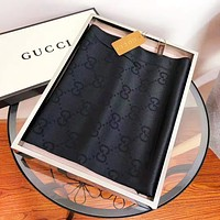 GUCCI New fashion more letter print keep warm scarf women Black No Box