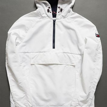 Tommy Hilfiger Logo Quarter Zipper Anorak at PacSun.com