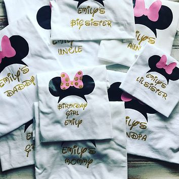 Minnie Mouse Birthday Family Shirts