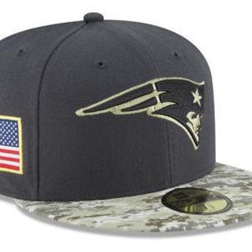New England Patriots New Era 59FIFTY NFL Salute To Service Fitted Cap 5950 Hat