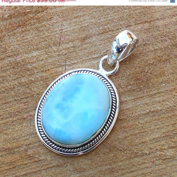 20 off sales larimar pendant sterling from vedkadesigns on 20 off sales larimar pendant sterling silver pendant oval gemstone pendant hand aloadofball Gallery
