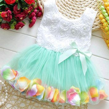 Kid Girls Princess Hot Sales Toddler Baby Party Tutu Lace Bow Flower Dresses Clothes NEW