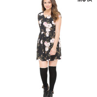 Aeropostale  Womens Big Roses Dress