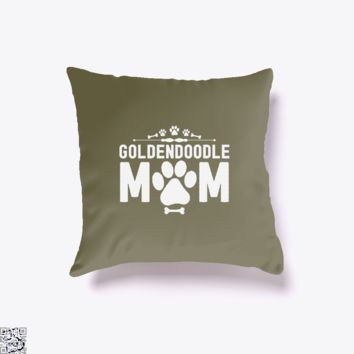 Goldendoodle Mom, Family Love Throw Pillow Cover