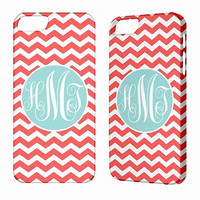 Monogram iPhone Case - iPhone 5 Case Monogram iPhone 4 case iPhone 4S Chevron Monogram iPhone 3G 3GS iPod Touch 5 4G Monogram iPhone 5 Case