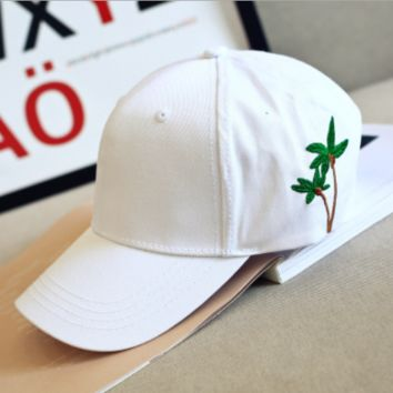 Palm Tree Hat Baseball Cap Polo Style Unconstructed