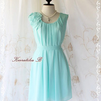 A Party V - Dress - Sweet Party Collection Prom Party Bridesmaid Cocktail Dinner Wedding Dress Mint Blue