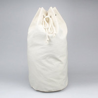 The Arnold Duffle // Natural Canvas Laundry or Duffle Bag with Rope Drawstring and Carrying Handle