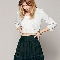 Free People Womens Finished in Lace Mini Skirt - Poppy, M