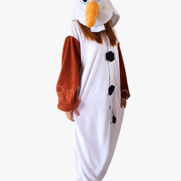 Frozen Olaf Unisex Animal Sleepsuit Kigurumi Cosplay Costume Pajamas Outfit Nonopnd Nightclothes Onesuits Halloween Cheap  Clothing