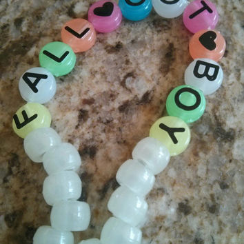 Glow in the Dark Fall Out Boy Bracelet