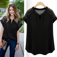 women shirts tops summer plus size clothes [9893383052]