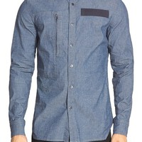 Men's G-Star Raw 'Powel Riaschambray' Extra Trim Fit Chambray Shirt,