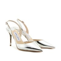 jimmy choo - tilly metallic-leather pumps