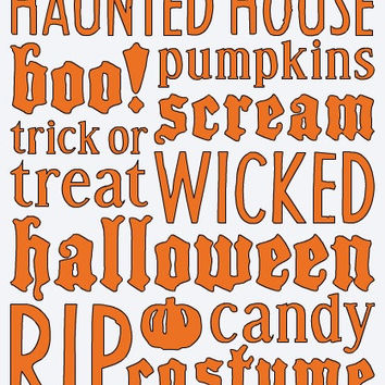 Halloween Vinyl Kit (9 x 12)