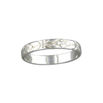 Floral Ring - Sterling Silver