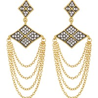 Freida Rothman | 14K Gold Plated Sterling Silver Contemporary Deco Chain Drop Earrings | Nordstrom Rack