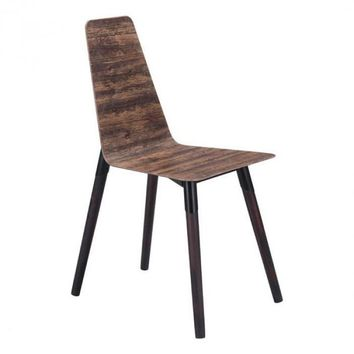 Zuo Modern Distressed Brown Ignore 100424 Dining Chair